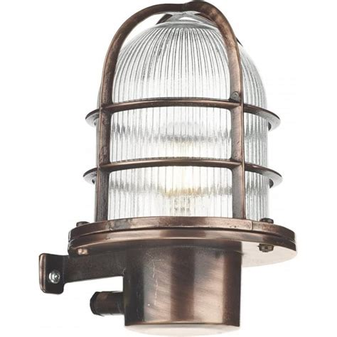 Nautical Style Outdoor Lighting Nautical Industrial Style Garden Wall Light Solid Brass Copper Finish