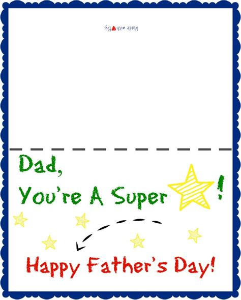 Free Printable Card Templates Fathers Day by Free Printable S Day Card For