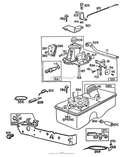 briggs carb diagram briggs and stratton 095508 0015 99 parts diagram for