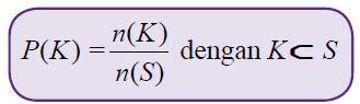 pengertian peluang  kejadian frekuensi relatif