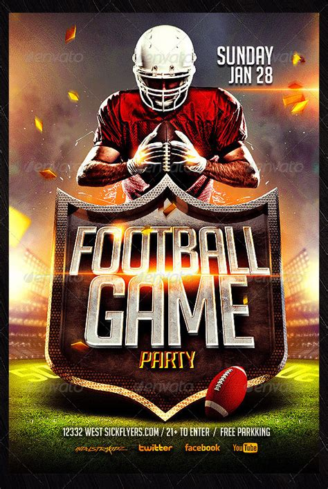 free football flyer templates 23 football flyer templates free psd eps ai indesign