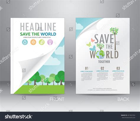 helping nature brochure template design and layout environment ecology brochure flyer design layout stock