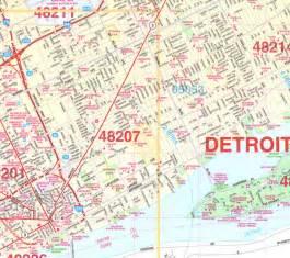 detroit wall map
