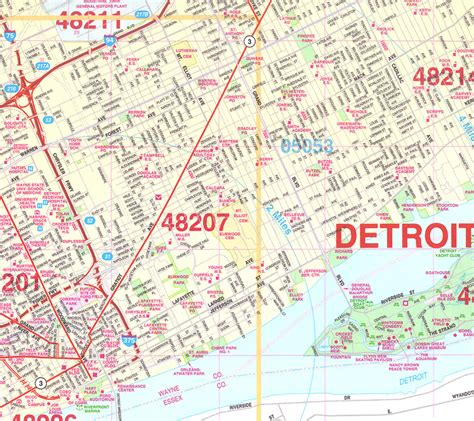 maps detroit zip code map detroit afputra