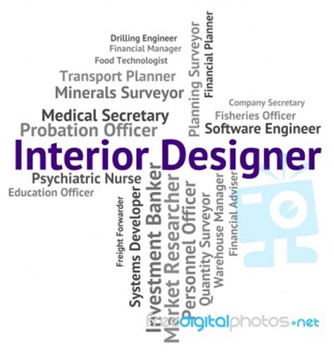 interior designer shows hire words  occupations stock