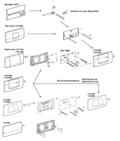 costo cassetta geberit geberit perno di comando per vecchie placche ebay