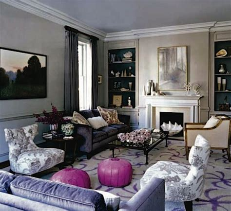 purple and grey living room gray and purple living rooms