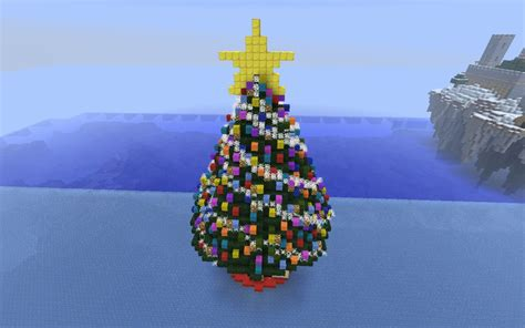 how to make an xmas tree on minecraft tree minecraft project