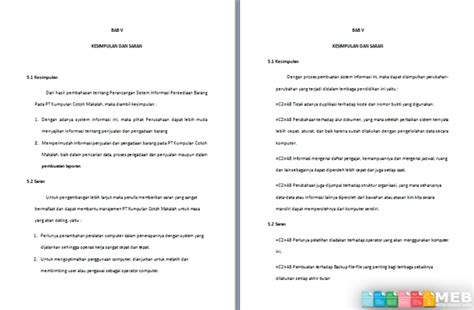 format kesimpulan makalah contoh kesimpulan dan saran penutup makalah klik contoh