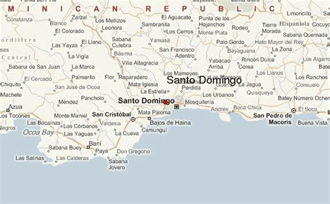 santo texas map ypisvat detailed map of santo domingo
