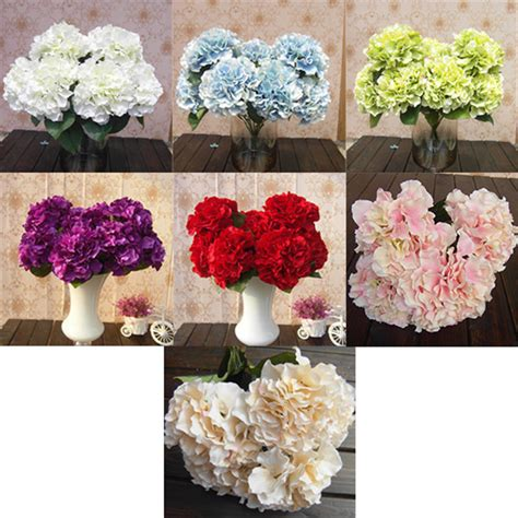 Artificial Flower For Home Decor 2015 Sale Fashion Home Decor 5 Flower Heads Artificial Flower Bunch Bouquet Hotel Garden