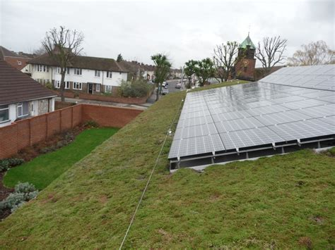 green roofs and solar panels sky garden
