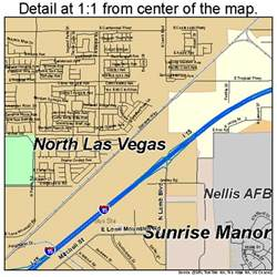 Map Of North Las Vegas north las vegas nevada street map 3251800