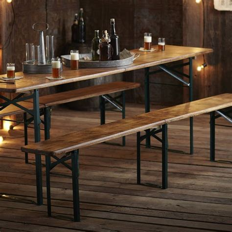 german garden table biergarten table benches by roost 187 petagadget