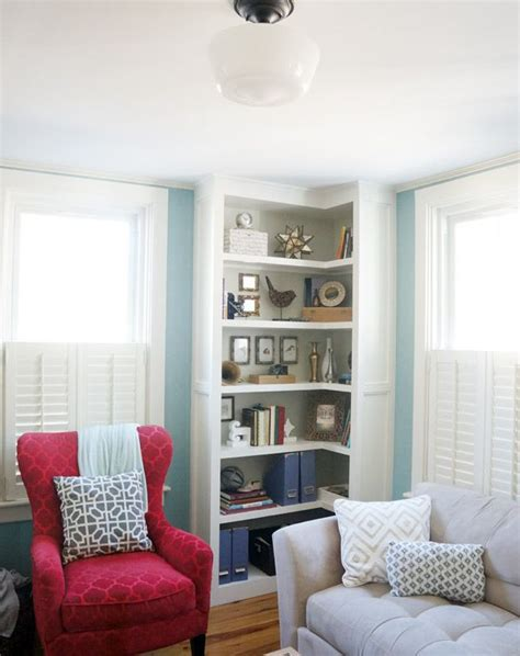 15 Ways To Diy Creative Corner Shelves Diy Corner Bookcase