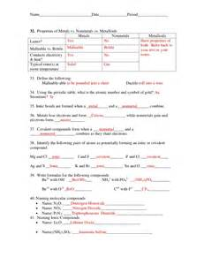 Periodic Table Nonmetals Mid Term Review Questions2011 Answer Key