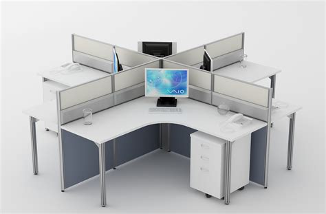 cluster of 4 workstation for office furniture