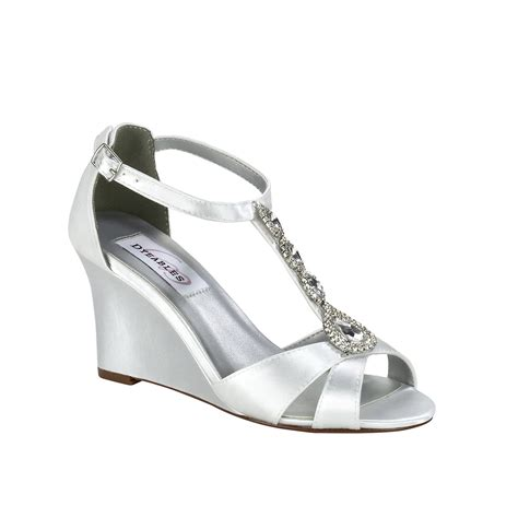 Satin Shoes by Dyeables Codi White Satin 3 Quot Wedge Dyeable Shoe Store