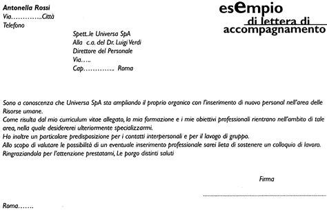 lettere accompagnamento curriculum esempio lettera di accompagnamento curriculum esempio curriculum