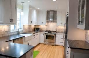 Kitchen Remodel White Cabinets by Sherwood Forest Complete Kitchen Remodel Cabinet Creations