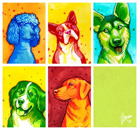 colorful dogs colorful dogs by nimrais on deviantart