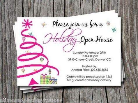 christmas openhouse inviation ideas party invitations ideas