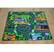 Childerns Play Mat Bedroom Rug Road Cars Time 67cm EBay