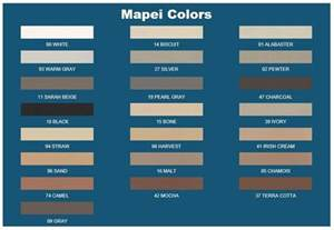 Mapei grout color chart
