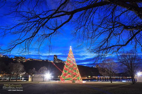 Pittsburgh Holidays And Winter 2014 Pittsburghskyline Point State Park Lights