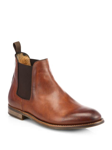 ralph boots ralph godstl chelsea boots in brown for lyst