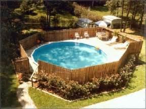 above ground pool privacy decks building deck around