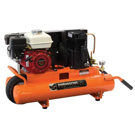 industrial air 8 gallon portable gas powered air compressor with 5 5 hp honda engine the home