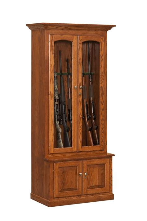Gun Cabinet by Custom Amish Wooden Gun Cabinets And Corner Gun Cabinets