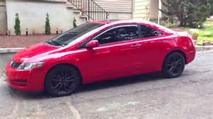 2010 honda civic coupe plasti dipped rims with glossifier