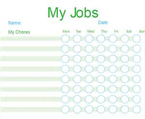 free chart templates chore chart template free pdf excel word format