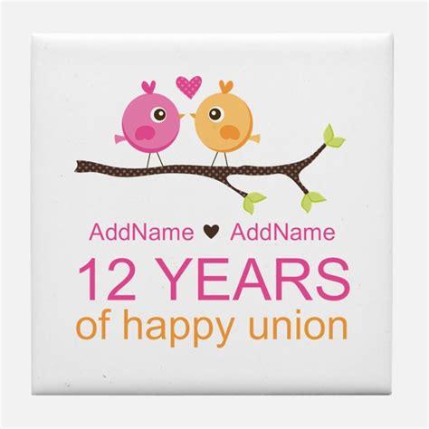 12Th Wedding Anniversary 12th Wedding Anniversary Coasters
