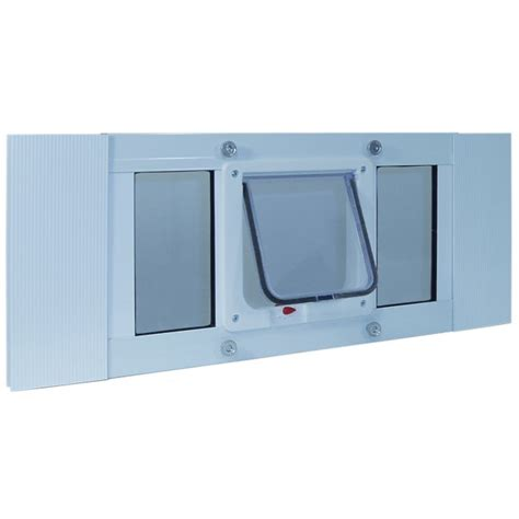 Pet Doors For Windows by Ideal Pet Aluminum Sash Window Cat Flap 23 To 28 Inches