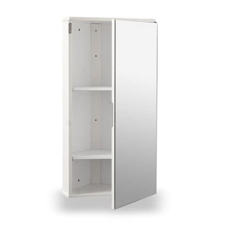 Corner Mirrored Bathroom Cabinet White Gloss Wall Hung Corner Bathroom Cabinet With Single Mirrored Door Search Furniture