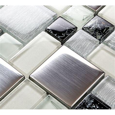 stainless steel home decor metallic backsplash tile brush 304 stainless steel metal