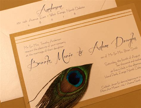 Wedding Invitations Fargo Nd by The Peacock Collection Fargo Wedding Invitations