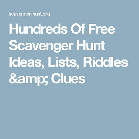 1000 ideas about list of riddles on scavenger