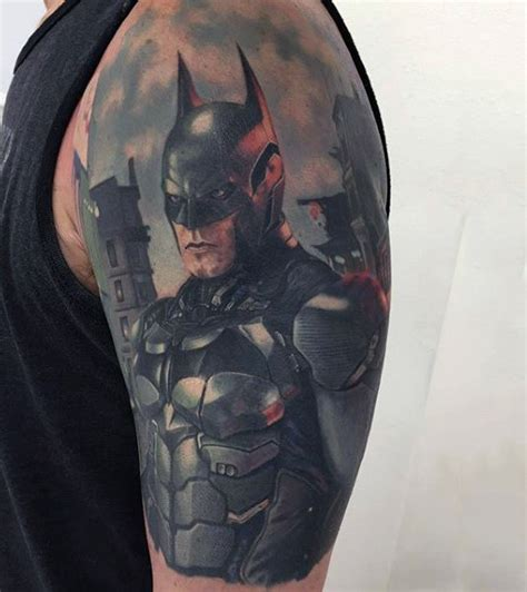 batman tattoo bicep 100 batman tattoos for men superhero ink designs
