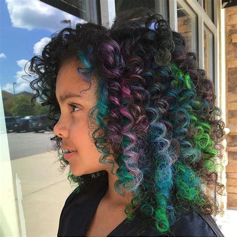 colorful short hair styles colorful hair like rainbow hair on curly hair or is it