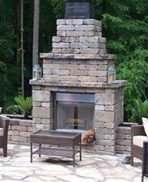pavestone outdoor fireplace pavestone on