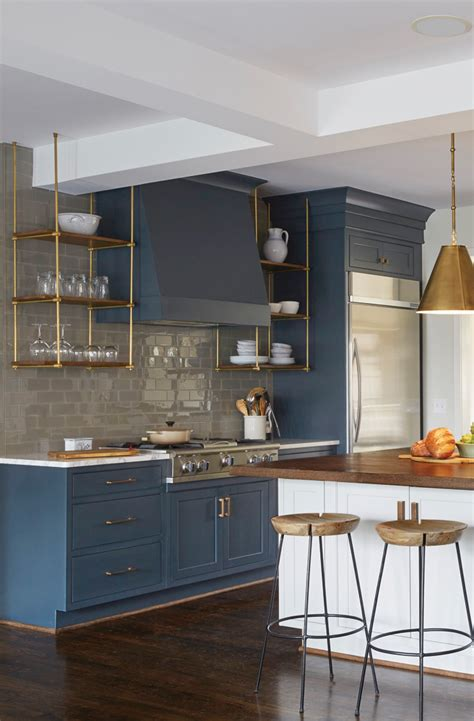 Blue Kitchen Hutch trend alert 5 kitchen trends to consider open shelving blue kitchen cabinets and cabinets