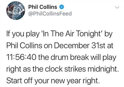 in the air tonight puppy phil collins in the air tonight new year clock loldamn