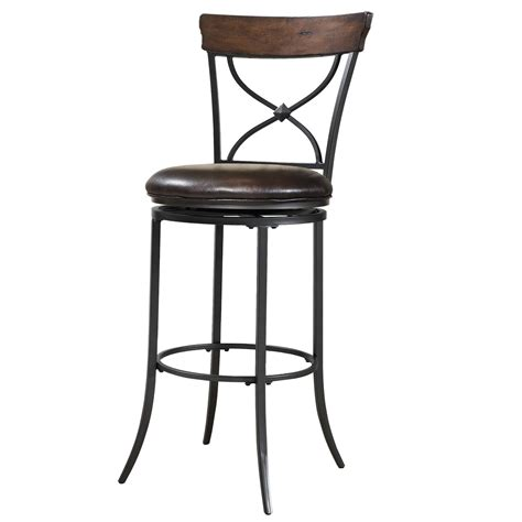 Metal Bar Stool With Back Furniture Black Metal Bar Stools With Striped Brown Wooden Back And Brown Leather Seat