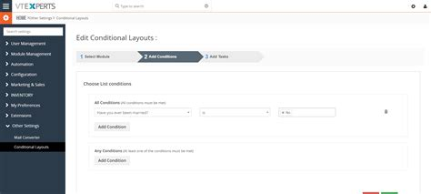 layout editor vtiger vtiger conditional layouts based on fields extension