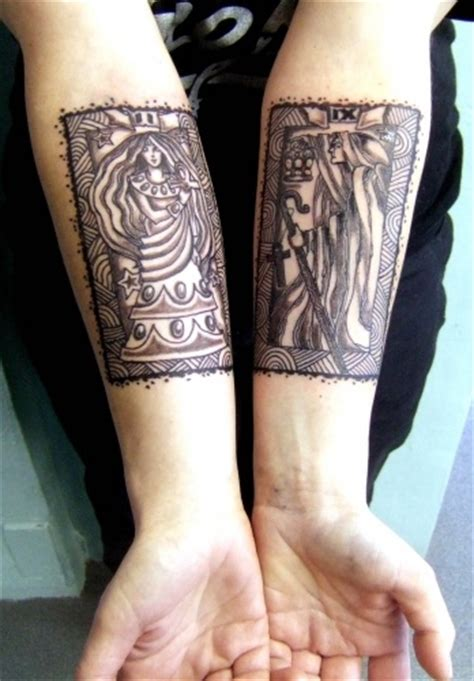 high priestess amp the hermit tarot cards tattoos of tarot