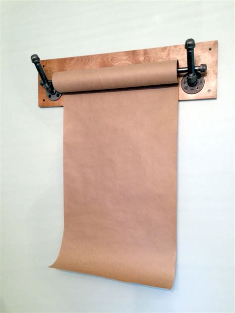 Butcher Paper Rack by Kraft Paper Dispenser Wall Mount Industrial Pipe By